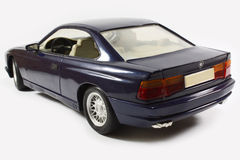Coupe model car. Blue coupe sports model car Stock Image