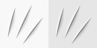 Coupe réaliste de vecteur avec un couteau de bureau illustration de vecteur