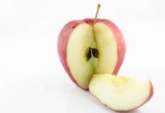 Coupe rouge de pomme. Photos stock