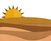 Couper-coller de papier de désert Photo libre de droits