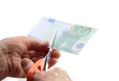 Couper la facture de dépense Image stock