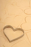 Coupeur de biscuit de coeur Photos stock
