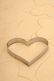 Coupeur de biscuit de coeur Images stock