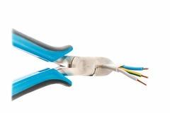 Coupeur de côté de fil de règlage pour le montage Photo stock