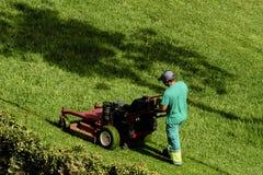 Coupeur de pelouse Images libres de droits