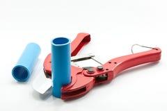 Coupeur de pipe de PVC images libres de droits