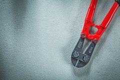 Coupeur en acier sur le concept concret de construction de fond Photo libre de droits