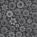 Coupeurs de fraisage pour le fond sans couture de modèle en métal 3d Image stock