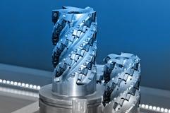 Coupeurs industriels modernes Outils de coupe image stock