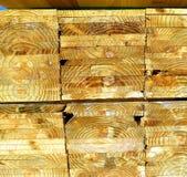 Coupez et avez découpé l'arbre en tranches pour l'industrie du bois Image libre de droits