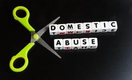 Coupez l'abus domestique Photo stock