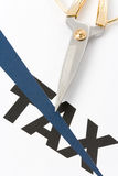 coupez l'impôt Images stock