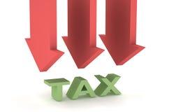 Coupez l'impôt illustration stock