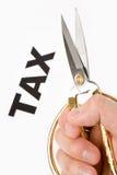 coupez l'impôt Photographie stock