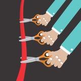 Coupez la cérémonie d'ouverture de ruban. illustration stock