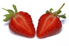 Coupez la fraise Image libre de droits