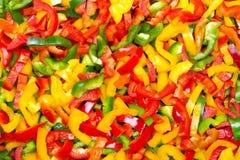 Coupez la texture de paprikas pour le fond Images stock