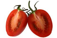 coupez la tomate Photos stock