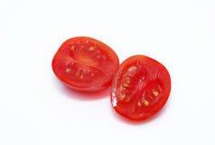 Coupez la tomate-cerise Image stock