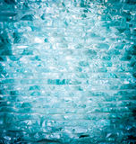 Coupez la turquoise empilant le verre Photographie stock libre de droits