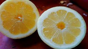 Coupez le citron Photo stock