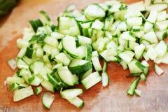 Coupez le concombre Image libre de droits