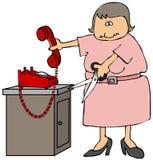 Coupez le cordon de téléphone illustration de vecteur