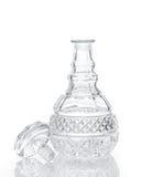 Coupez le décanteur et le bouchon en cristal de whiskey Photographie stock