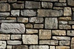 Coupez le détail de mur en pierre Photo stock