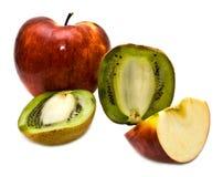 coupez le fruit Images stock