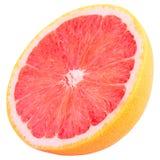 Coupez le fruit de pamplemousse d'isolement sur le fond blanc avec la coupure Photo libre de droits