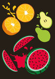 Coupez le fruit mûr illustration stock