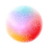 Coupez le logo coloré rond floral illustration stock