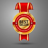 Coupez le meilleur d'or de mur et rouge de la meilleure qualité illustration libre de droits