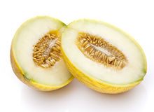 Coupez le melon ouvert image libre de droits
