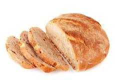 Coupez le pain d'artisan Image libre de droits