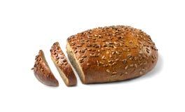 Coupez le pain du pain complet Image libre de droits