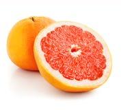 coupez le pamplemousse de fruit frais Images stock