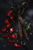 Coupez le poivron rouge photographie stock libre de droits