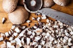 Coupez les champignons d'en haut Image stock