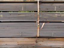 Coupez les conseils impeccables en bois Bois de construction, panneaux prévus Photographie stock libre de droits