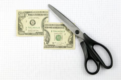 Coupez les dollars Images libres de droits