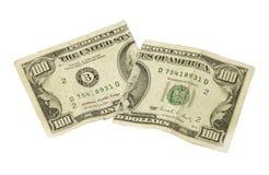 Coupez les dollars Image libre de droits