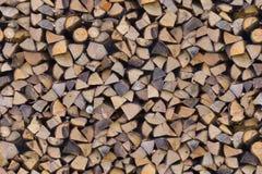 Coupez les extrémités d'arbre empilées Photos libres de droits