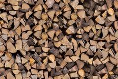 Coupez les extrémités d'arbre empilées Photographie stock