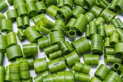 Coupez les feuilles de ciboulette de tube Image stock