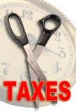 Coupez les impôts Photographie stock