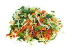 Coupez les légumes Photos libres de droits