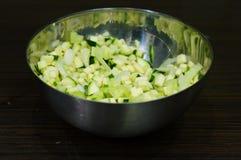 Coupez les légumes Images libres de droits