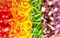 Coupez les légumes Image libre de droits